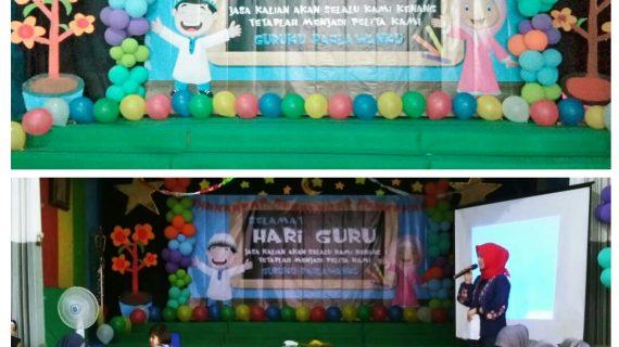 Haru, Bahagia Perayaan Hari Guru Ke 73 Di KB, TK Islam PB Soedirman