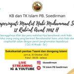 Inilah Perayaan Maulid Nabi KB, TK Islam PB Soedirman Tahun Ini